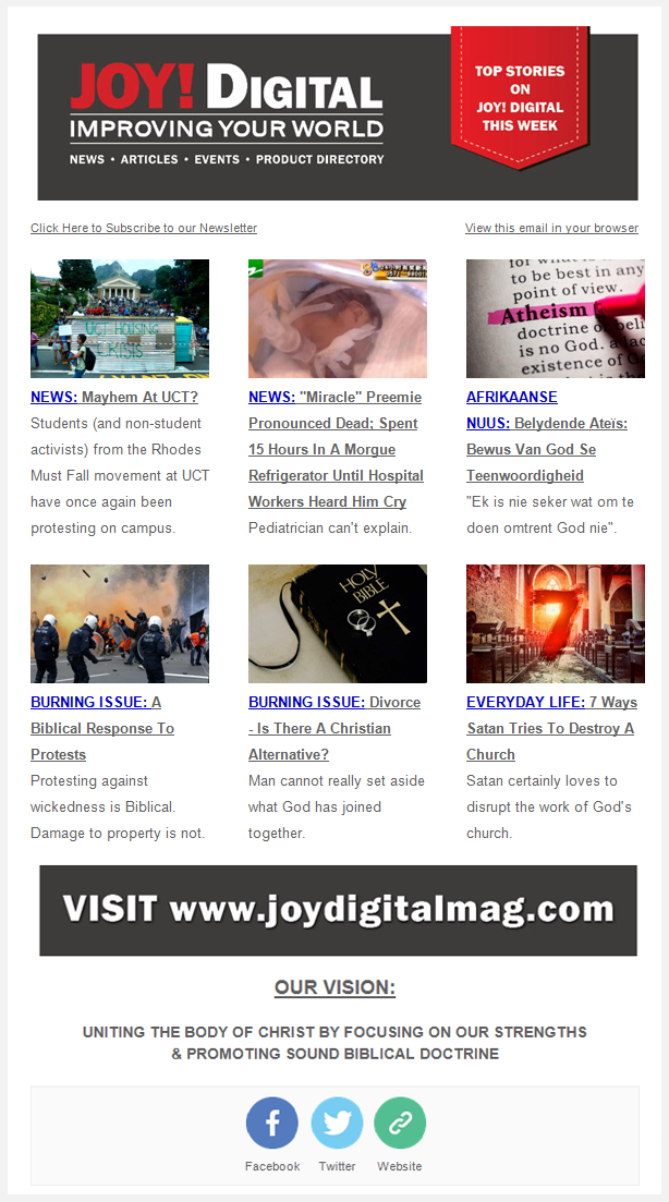 Weekly Newsletter Joy Digitaljoy Digital