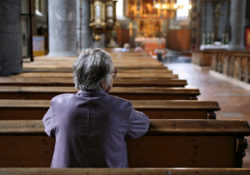 Old person in Church