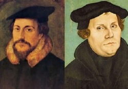 Jean Calvin and Martin Luther. / Public Domain