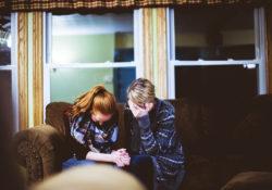 Sad People Praying