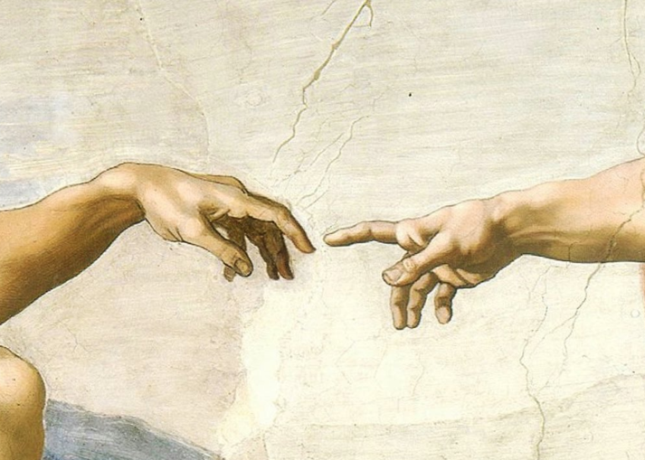 """The Creation of Adam"" by Michelangelo (Public Domain)"