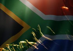 south African Flag and Worship