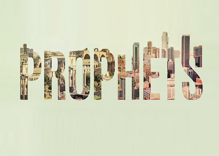 Word Prophets with buildings