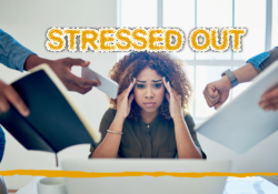Stressed out woman