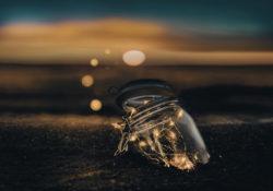Jar with light