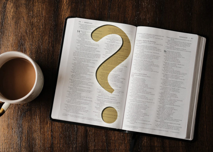 Bible with Question Mark