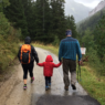 Family taking a Hike